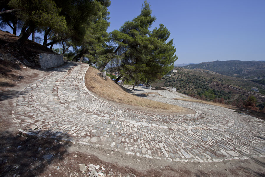 Cobble stone street in the citadel of Berat | Berat Citadel | Albania