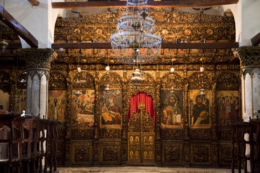 Picture of The original iconostatis of the Church of the Dormition of St Mary, currently the Onufri Museum