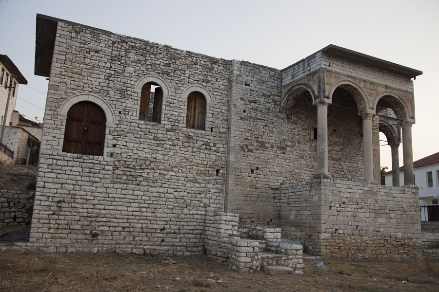 Ruins of the Pasha's palace right in the centre of Mangalem | Mangalem | Albania