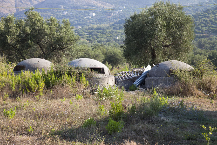 Picture of Borsh bunkers (Albania): Bunkers in an orchard close to the beach of Borsh
