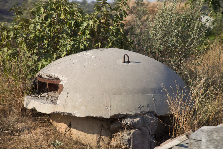 Picture of Borsh bunkers (Albania): Bunker in the bush near the beach of Borsh