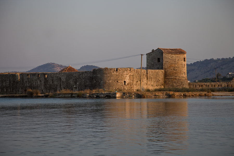 Picture of Butrint (Albania): The Venetian castle opposite Butrint catching the last light of the day