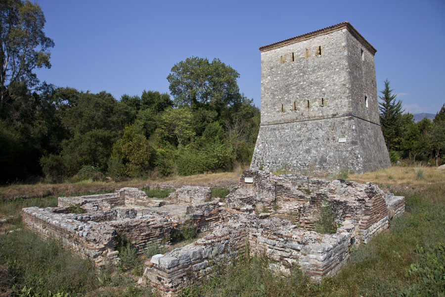 Picture of Butrint (Albania): The Venetian tower with some ruins at the entrance of Butrint