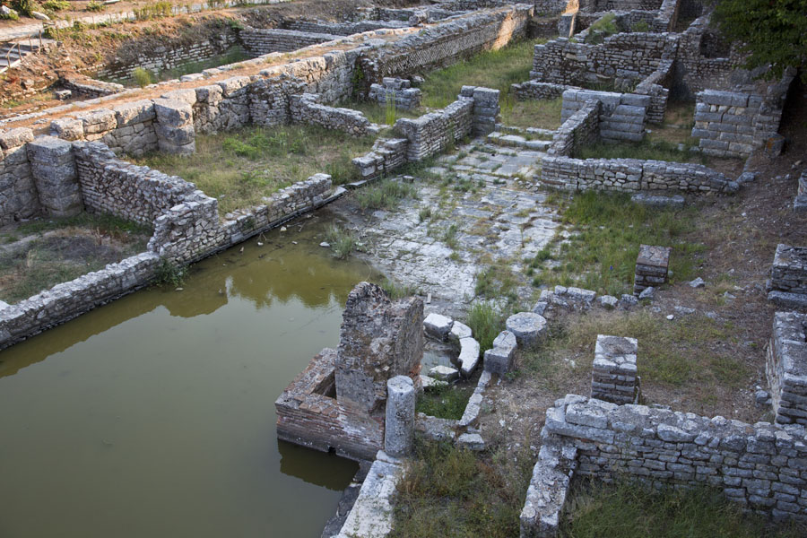 Picture of Butrint (Albania): Partly immersed ruins of the temple of Asclepius, god of healing, in the heart of Butrint