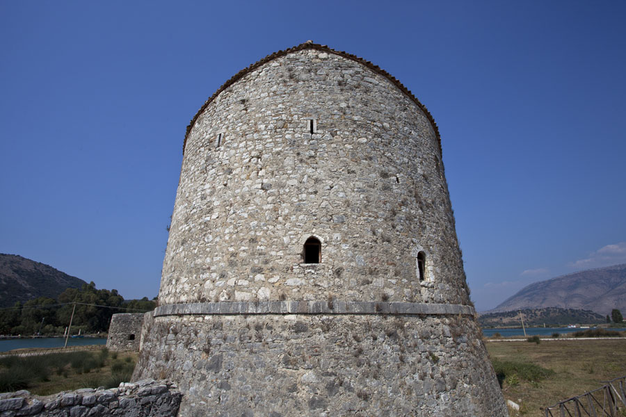 Looking up the Venetian tower just across Butrint | Butrint | Albania