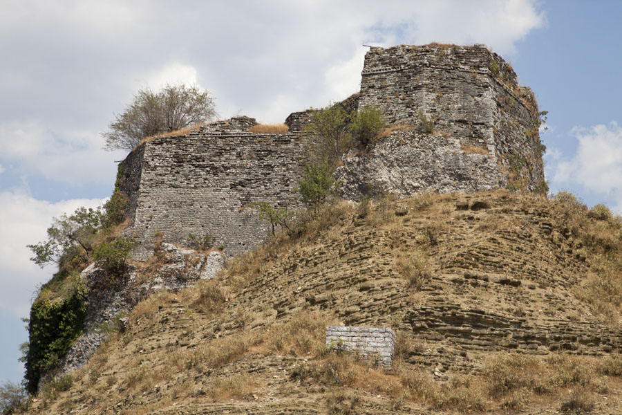 Picture of Gjirokastër Castle (Albania): Ruins on top of the hill where the castle was built