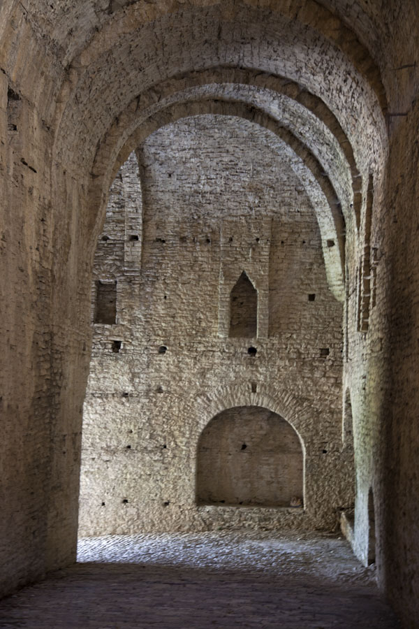 Picture of Gjirokastër Castle (Albania): Stone walls with an arched ceiling are the features of the Gallery of the castle