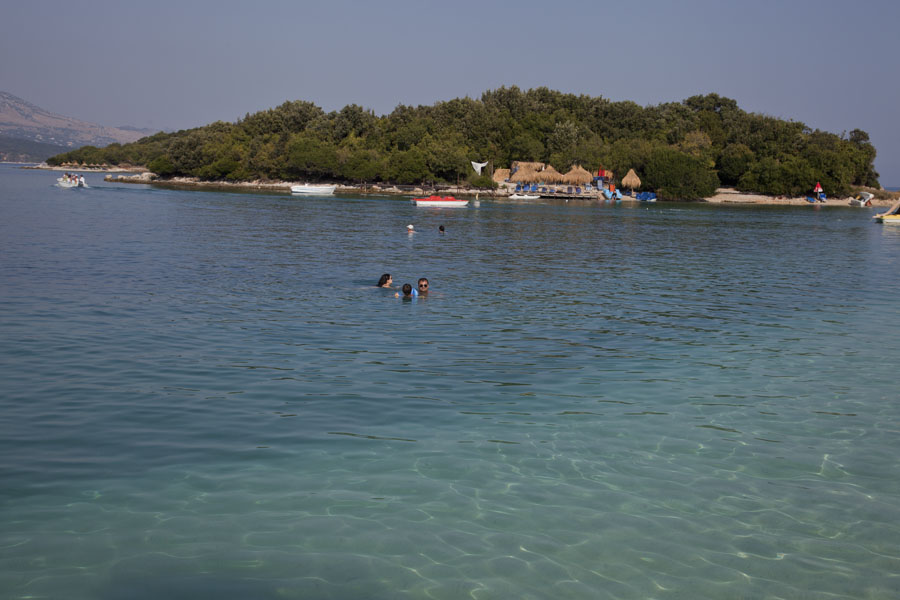 One of the small islands just off the coast at Ksamil | Ksamil beaches | Albania