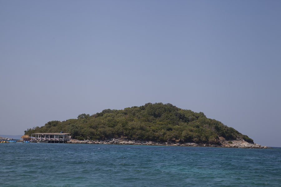 Picture of Small island close to the beach at Ksamil