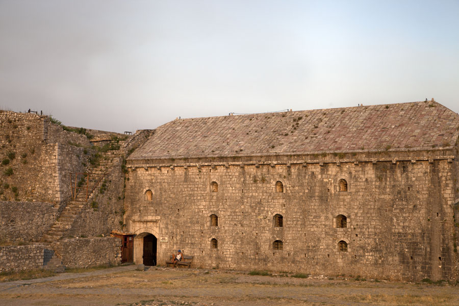 Picture of The Venetian arsenal building on the top courtyard of Rozafa castle - Albania - Europe