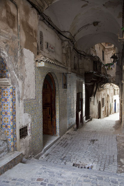 的照片 Vaulted ceiling over one of the alleys of the Casbah - 阿尔及利亚