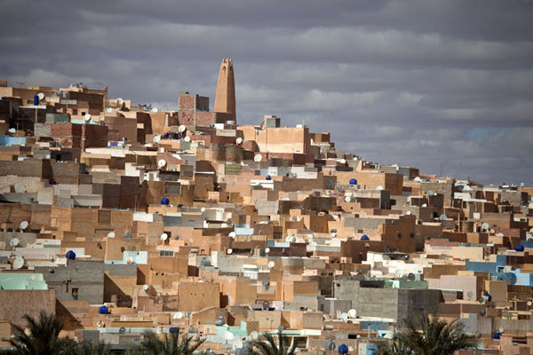 The 14th century town of Beni Isguen seems to tumble down the hill | Beni Isguen | Algeria