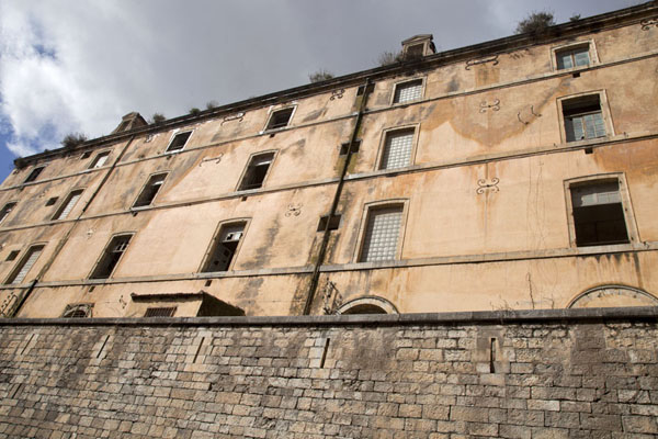 Looking up the Military Hospital building in the old town | Constantine | Algeria