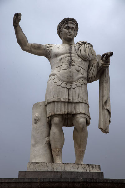 Statue of Emperor Constantine, after whom the city was renamed from Cirta | Constantine | Algeria