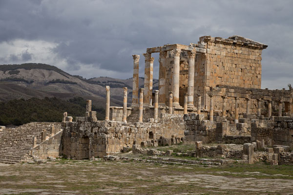 Picture of Djemila (Algeria): Temple of the Septimus Family on the southern side of Severus Square