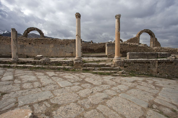 Picture of Djemila (Algeria): Arches rising above the Great Baths of Djemila