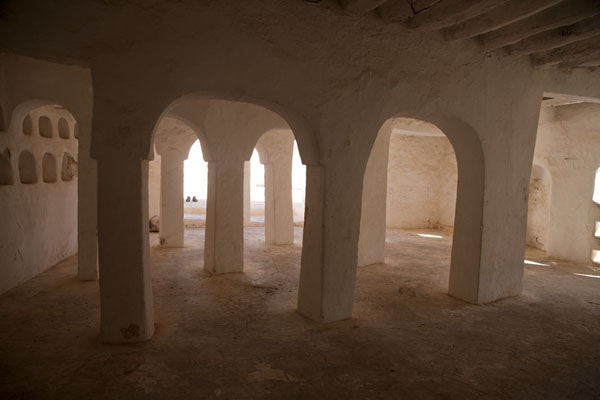 Picture of Built with palm tree trunks, the interior with arches of the Sidi Brahim mosque
