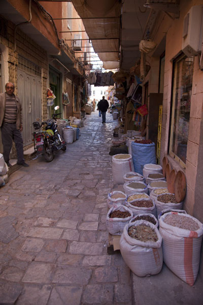 Foto di Some of the shops in the lower part of the old town of GhardaïaGhardaïa - Algeria