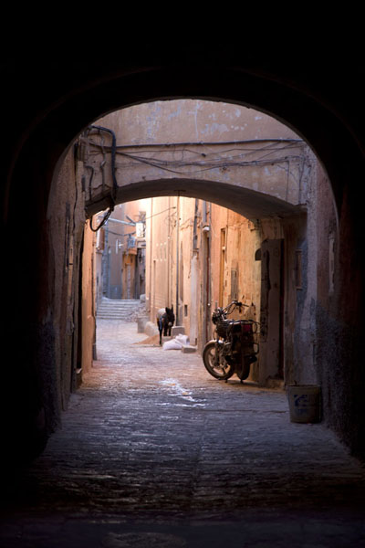 Foto van Thoroughfare in the old town of GhardaïaGhardaïa - Algerije