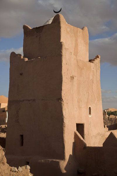 Minaret of the mosque in the old town of Taghit | Taghit | Algérie