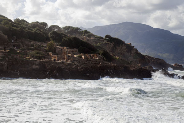 Picture of Tipaza (Algeria): Waves crashing on the shore of Tipaza