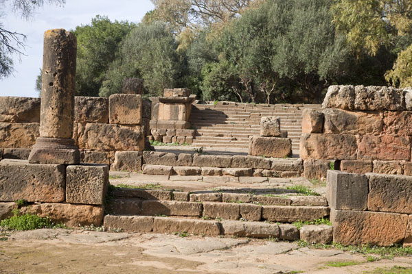 的照片 Steps leading up the New Temple of Tipaza - 阿尔及利亚