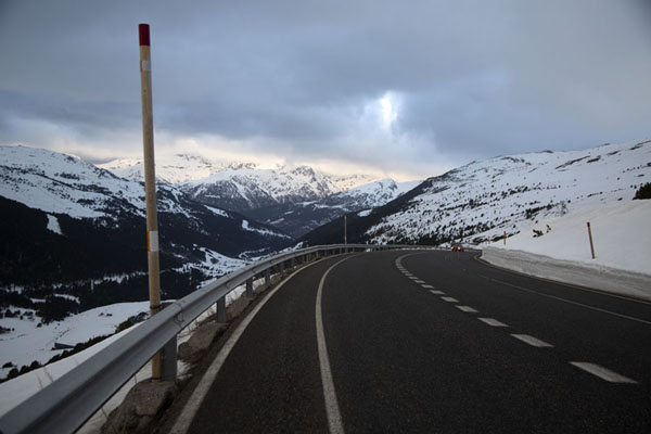 Picture of Looking into Andorra from the Envalira pass roadEnvalira - Andorra