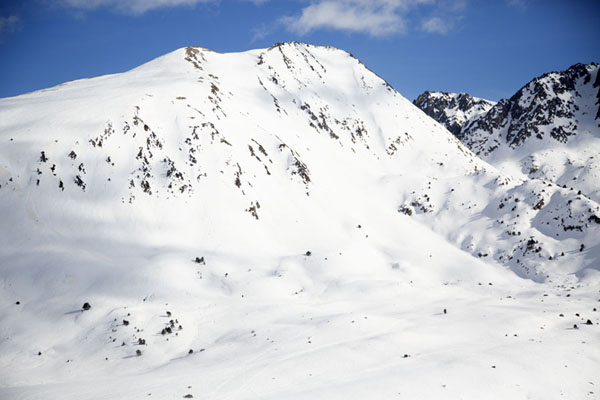 Snowy mountains near Envalira pass | Envalira mountain pass | Andorra