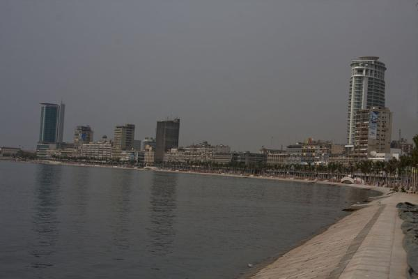 Picture of Baixa Luanda (Angola): The coastline under reconstruction at the Marginal with part of the skyline of Luanda