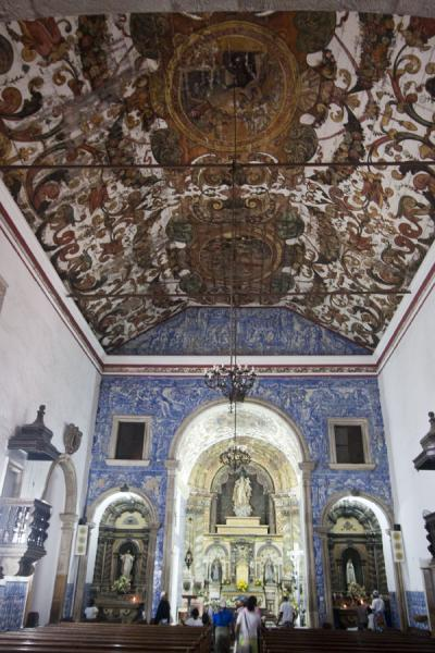 Picture of Baixa Luanda (Angola): 17th century Igreja de Nossa Senhora do Carmo with impressive tiles and hand-painted ceiling