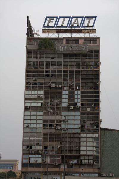 Picture of Baixa Luanda (Angola): Modern building crumbling away in the Baixa Luanda neighbourhood