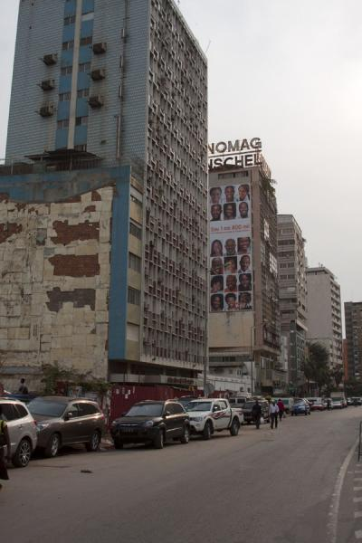 Picture of View of the Rua Rainha Ginga with dilapidated buildings