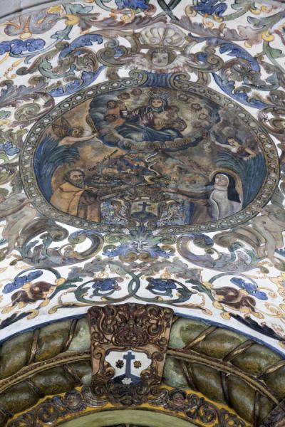 Foto di Close-up of ceiling of the Church of Our Lady of CarmoBaixa Luanda - Angola