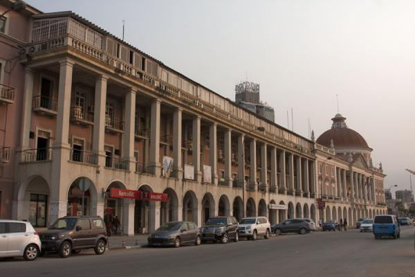 Picture of Baixa Luanda (Angola): Colonnaded building of the National Bank of Angola along the Marginal