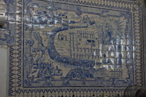 Picture of Wall with Portuguese azuleijos in the Church of Our Lady of NazarethLuanda - Angola