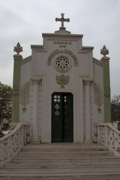 Picture of Alto das Cruzes cemetery (Angola): Ossuary with the remains of the heroes of the great war