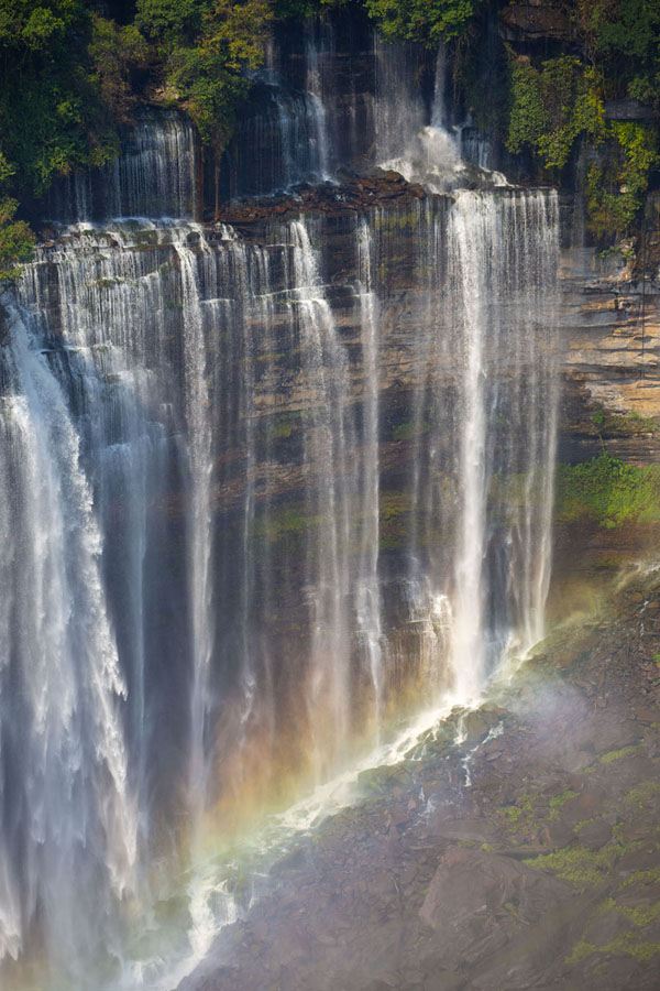 Rainbow across the eastern part of Kalandula Falls | Cascate di Kalandula | Angola