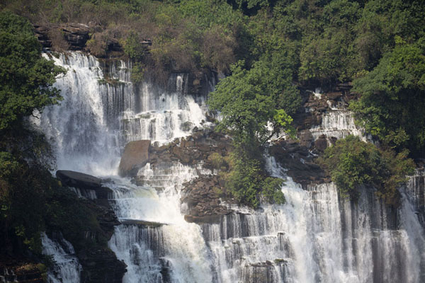 Close-up of the east side of Kalandula Falls | Kalandula watervallen | Angola