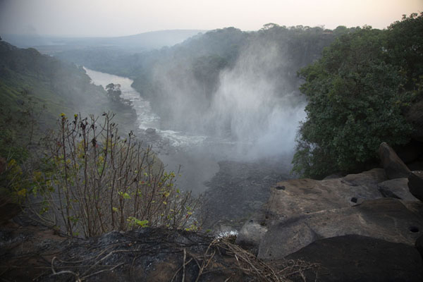 Picture of View from the top of the falls into the valley below with the Lucala river - Angola - Africa