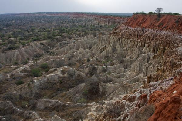 The rugged landscape of the deep red cliffs at Miradouro da Lua | Miradouro da Lua | Angola