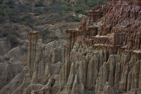 Picture of Pillars formed by nature in the landscape at the cliffs of Miradouro da Lua