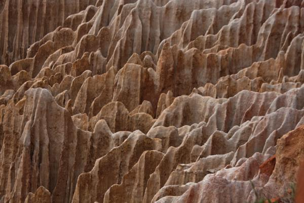 Close-up of the rugged landscape below the cliffs at the Miradouro da Lua | Miradouro da Lua | Angola