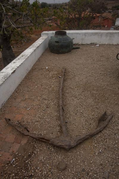 Old anchor on display outside the museum | Museum of Slavery | Angola