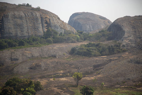 Foto van Rocky landscape of Pungo Andongo seen from atop one of the rocks - Angola - Afrika