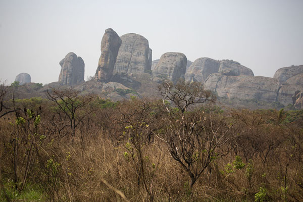 Picture of Western section of the Pungo Andongo rock formations seen from a distance - Angola - Africa