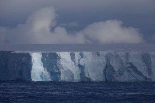 Picture of Antarctic Sound (Antarctica): White and blue light reflected off iceberg in the Antarctic Sound