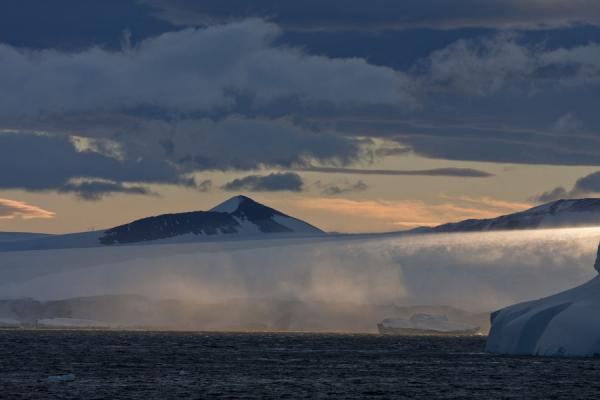 Picture of Antarctic Sound (Antarctica): Evening falling over Antarctica at the Antarctic Sound