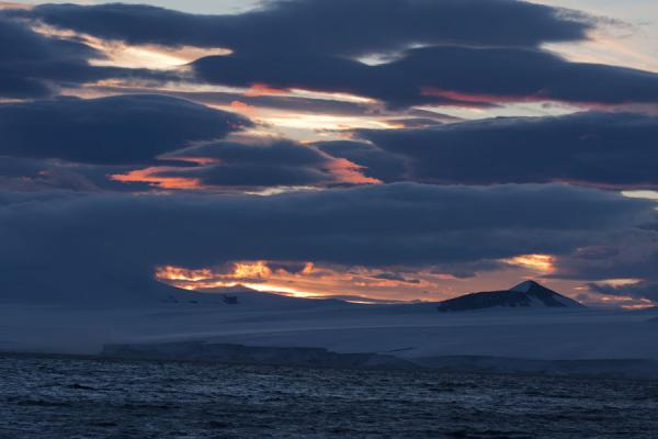 Picture of Antarctic Sound (Antarctica): Evening light over Antarctica