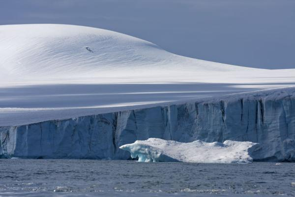 Small iceberg at the face of the massive glacier at Brown Bluff | Brown Bluff | Antarctica