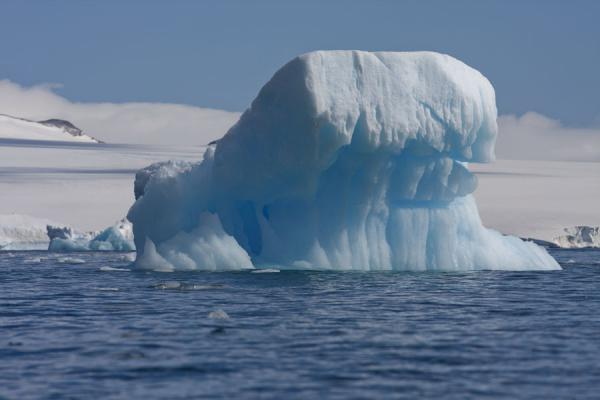 Photo de Iceberg sculpted by the sea at Brown BluffBaily Head - Antarctique